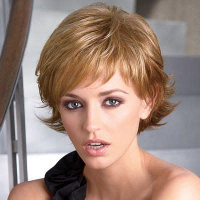 short layered flip hairstyles short wavy layers with spirited flipped up ends hair