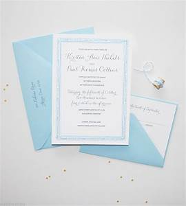 blue vintage wedding invitations With wedding invitation sample light blue