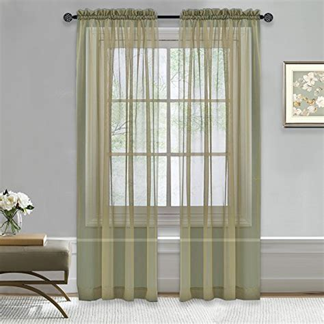 nicetown lightweight rod pocket sheer curtains voile panel