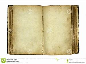 Open Old Blank Book Royalty Free Stock Image - Image: 7705496