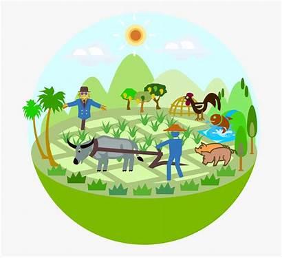 Agriculture Clipart Clip Cartoon Icon Transparent Farmer