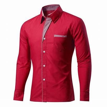 Shirts Shirt Mens Casual Slim Designer Sleeve