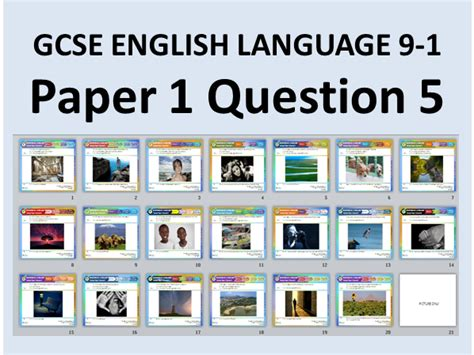 Aqa english language paper 2 question 5 writing improving writing grades 7, 8 and 9 exam tips revision gcse english example responses. 20 GCSE English Language Paper 1 Q5 Style Descriptive & Narrative Writing Questions with ...