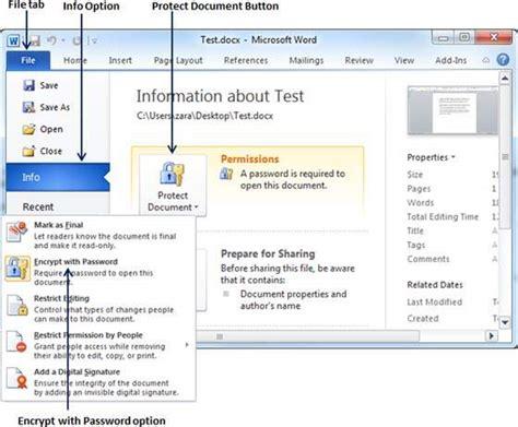 document security  word  tutorialspoint