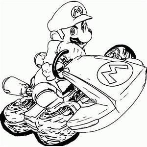 Kleurplaat Mario Kart Archidev
