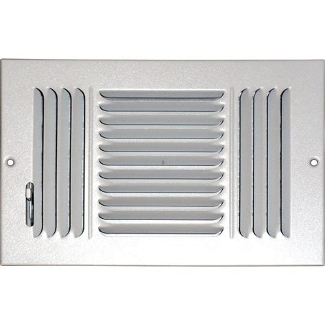 ac vent covers home depot speedi grille 8 in x 10 in ceiling sidewall vent register white with 3 way deflection sg 810