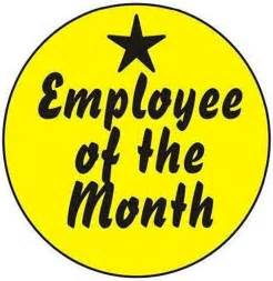 """Employee of the Month 2"""" Hard Hat Labels"""