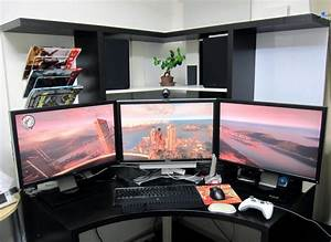 Gaming Schreibtisch Selber Bauen : gaming paradies 17 ideen f r gaming schreibtisch innendesign m bel zenideen ~ Markanthonyermac.com Haus und Dekorationen