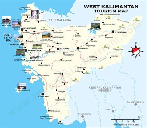 west borneo map peta kalimantan barat west kalimantan map