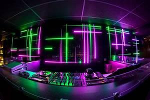 DJ Booth with Neon Lights - DJ Setup at FunDJStuff.com