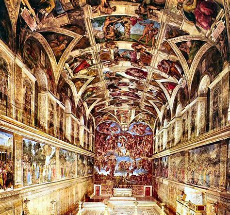 chapelle sixtine michel ange plafond les fresques de la chapelle sixtine de michel ange 1508 peinture la chapelle sixtine
