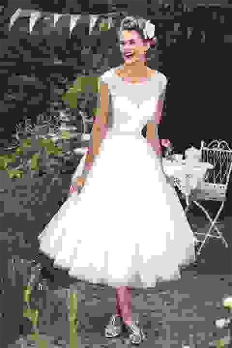 tea length bridal   style short wedding dresses