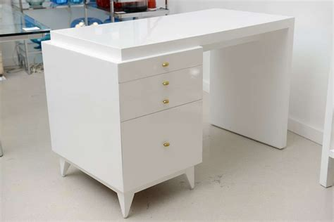 white lacquer desk marvelous modern white lacquer desk