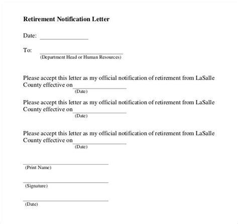 simple retirement letter  employer