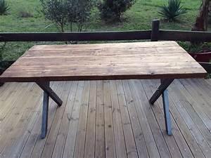 Table à Manger Industrielle Acier Et Bois : table a manger en acier beton bois vieilli design inoxydable verre massif industrielle grise ~ Teatrodelosmanantiales.com Idées de Décoration
