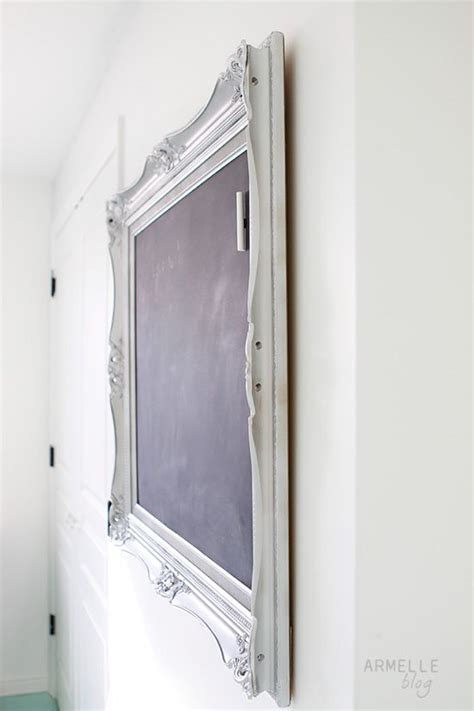 how to make a magnetic chalkboard with a frame sheet metal and chalkboard paint this is what