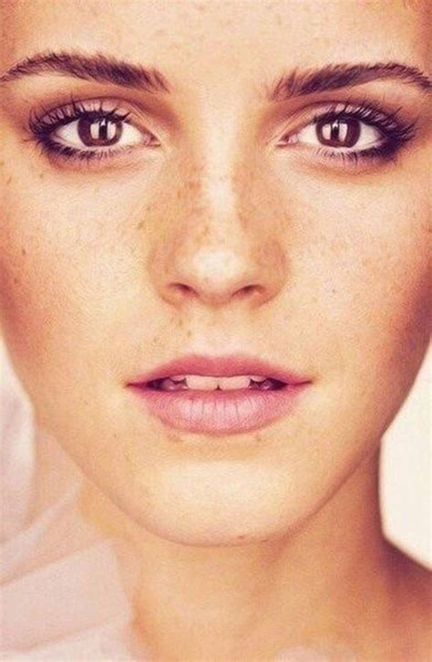 Emma Watson Looking Fresh Freckles Pinterest Woman