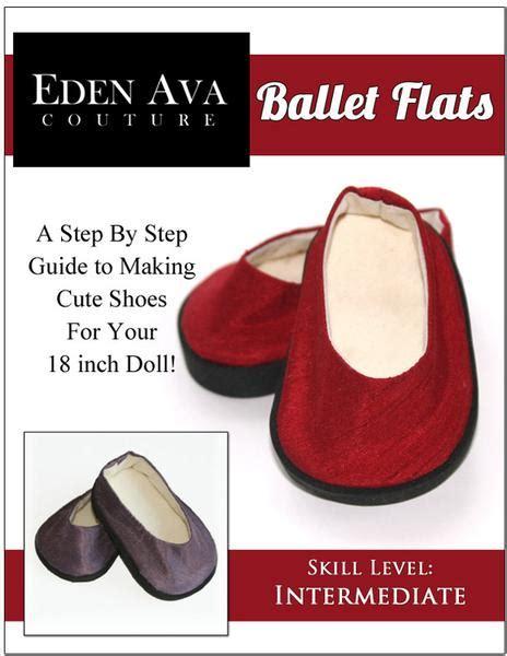 Ballet Flats 18 inch Doll Shoe Pattern PDF Download