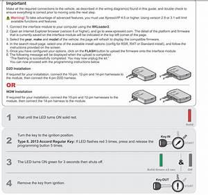 2014 Accord Alarm Remote Start Viper 5706v