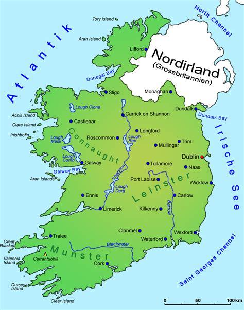 Irland Sehenswürdigkeiten Karte