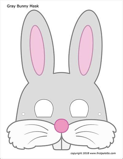 impeccable printable bunny mask brad website