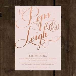elegant classic wedding invitation set on luxury card With pink and gold wedding invitations uk