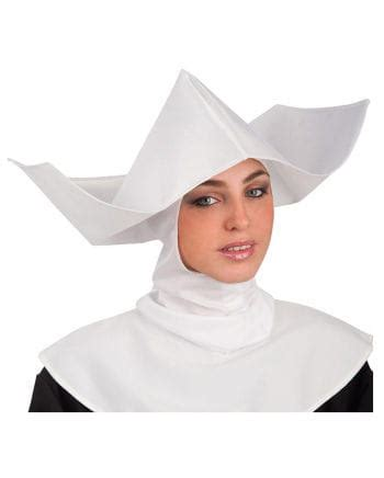 nuns white headdress   costume accessories horror
