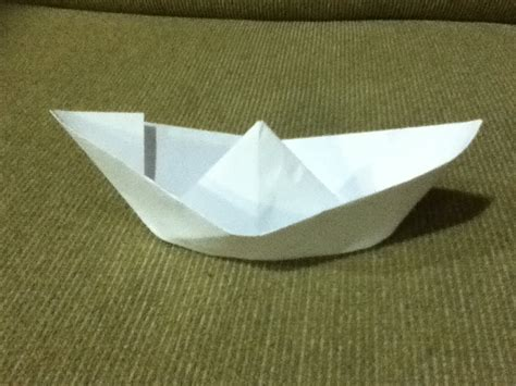 How To Make A Paper Boat Float Longer by How To Make A Paper Boat Origami Simple