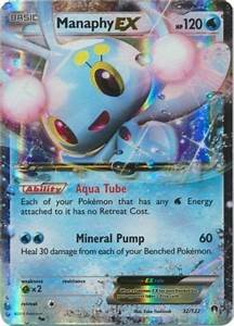 Manaphy Ex 116  122 Full Art Ultra Rare Nm Pokemon Xy Breakpoint - Pokemon Art