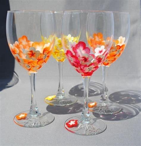 decor glass painted wine glasses wine glass decorating pinterest