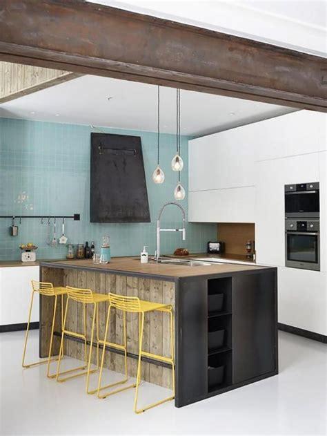 cuisine comptoir bois le comptoir en bois recyclé est une tendance à