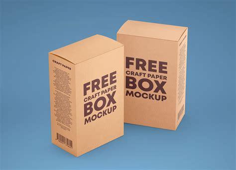 — kraft papar box mockup. Free Vertical Kraft Paper Box Packaging Mockup PSD Set ...