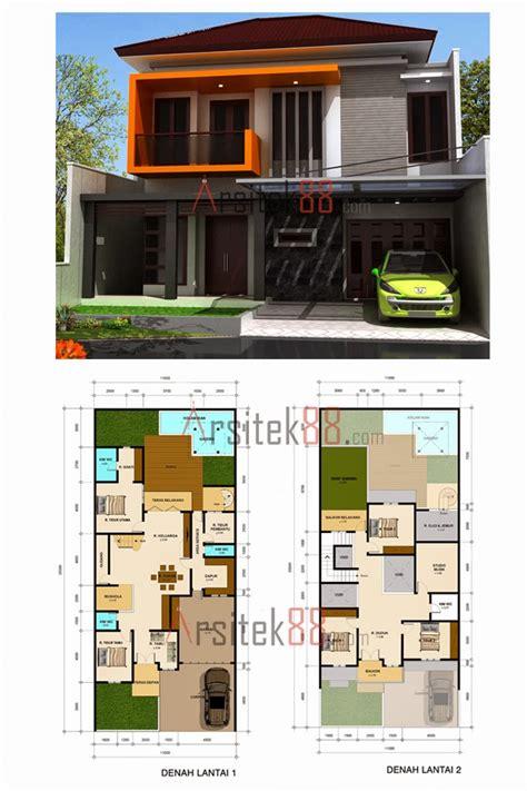 desain rumah minimalis  lantai beserta denahnya gambar