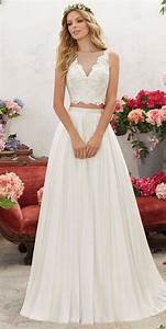 voyage by madeline gardner spring 2017 wedding dresses With two piece wedding guest dress