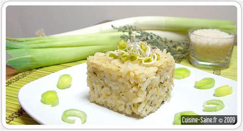 recette cuisine bio recette bio risotto aux poireaux et thym cuisine