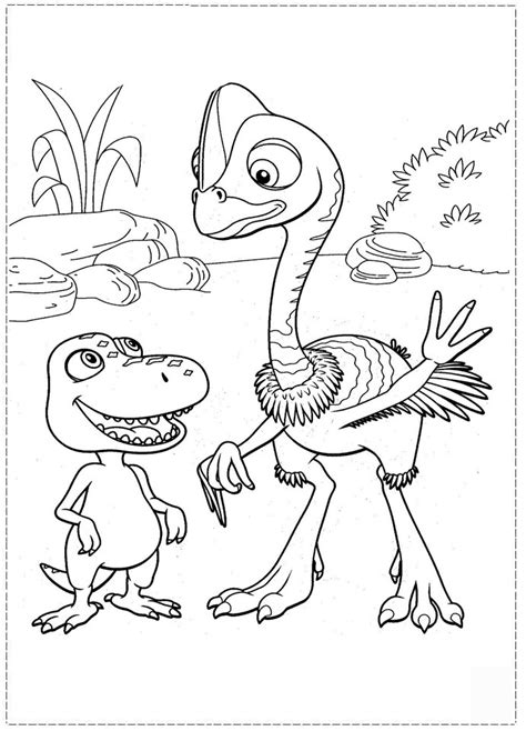 dinosaur train coloring pages  kids