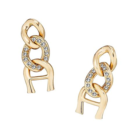 number for etienne aigner earrings gold aigner