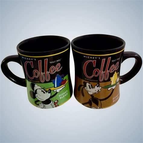 Pour in some of ''mickey's 'really swell' coffee brand'' into this inviting mug featuring barista minnie! Disney Mugs Mickey's Minnie Mouse & Goofy Really Swell Coffee 20 Ounce : Gumgumfuninthesun ...