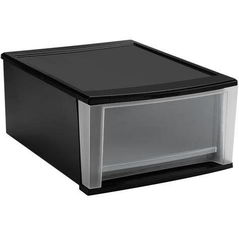 stackable bin storage cabinets stackable plastic storage drawers black in storage drawers