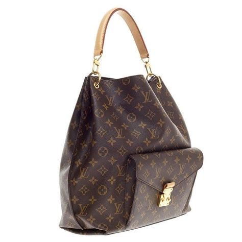 louis vuitton metis hobo monogram canvas  sale  stdibs