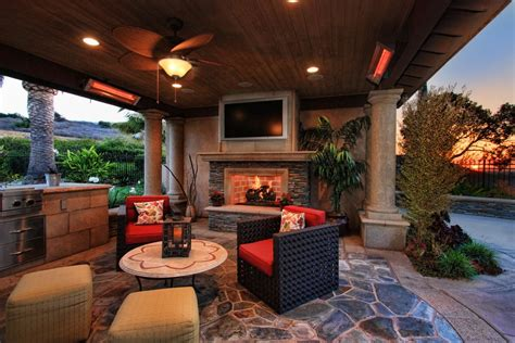 trim traditional patio covered outdoor fireplace grill
