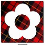 Plaid Texture Letters Numbers Icons Alphabet Greetings