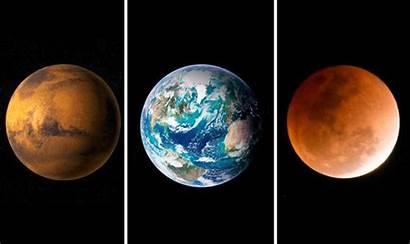 Mars Moon Eclipse Earth Opposition Blood Lunar