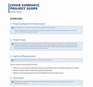 project scope statement project scope template With project scope document template free