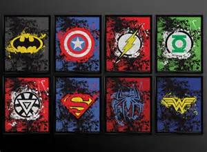 best 25 superhero wall art ideas on pinterest