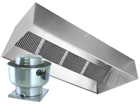 Restaurant Hood With Exhaust Fan 4ft Exhaust Only Vent