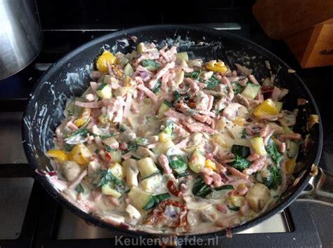 courgette boursin cuisine pasta met spinazie en boursin saus marian keuken liefde