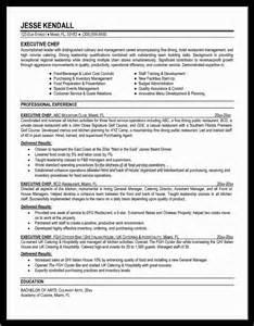 chef sle resume executive chef resume