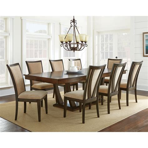silver dining table set steve silver gabrielle 9 piece dining table set medium