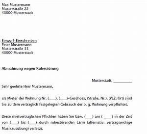Renovierungsarbeiten Bei Auszug : abmahnung ruhest rung musterschreiben zum sofortdownload ~ Eleganceandgraceweddings.com Haus und Dekorationen